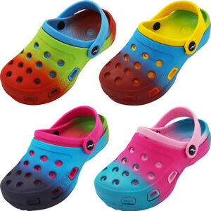 Norty Toddler & Girls Tie Dye Clog Sandal with Backstrap - 4 Color Combinations $10.90