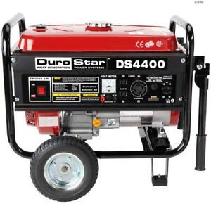 Durostar 4400 Watt Quiet Portable Recoil Start Gas Powered Generator rv Ds4400