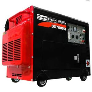 Durostar Ds7000q 6 500 Watt Enclosed Diesel Portable Generator Remote Start Ds