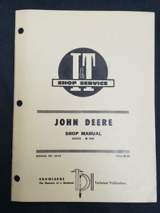 I t Shop Manual John Deere 2840 Series Tractor Jd 42