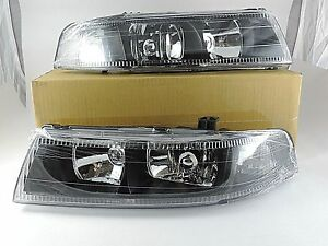 1998 1999 2000 2001 Mitsubishi Lancer Evolution Evo V Vi 5 6 Black Headlights
