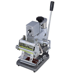 Manual Tipper Stamper Pvc Card Stamping Printing Machine Hot Foil 2 Roll Foil