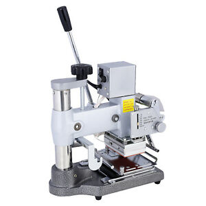 Manual Tipper Stamper Pvc Card Hot Foil Stamping Printing Machine 2 Roll Foil