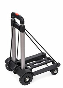 Anleolife Folding Carts With 4 Wheels Grocery Travel Dolly Back Saver Luggage C