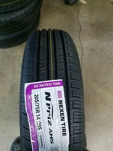 New 205 75r14 Nexen N priz Ah5 White Wall Tires 2057514 205 75 14