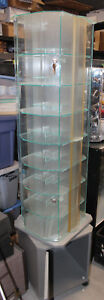 Spinning Cabinet Tower Display Show Case