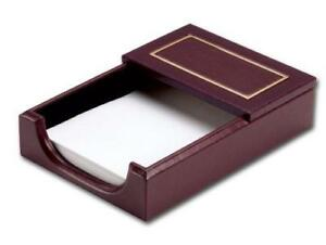 Dacasso 24 karat Gold Tooled Burgundy Leather Memo Holder