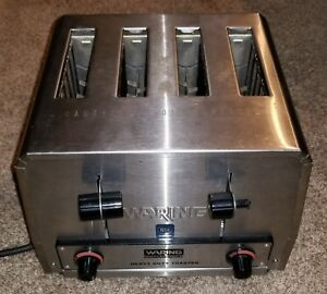 Waring Commercial Wct800rc Heavy Duty Stainless Steel Toaster W 4 Slot