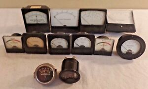 Vintage Lot Of Steampunk Panel Meters Simpson Weston More