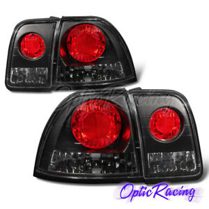 altezza Style for 1996 1997 Honda Accord Dx lx ex Black Clear Lens Tail Lights