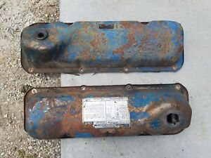 1971 1982 Oem Ford Mustang Truck Bronco Blue Valve Covers 351c 351m 400m