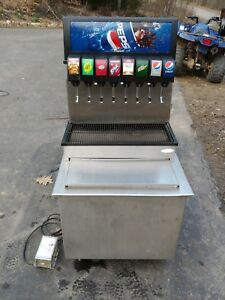 Cornelius 8 Eight Head Carbonated Beverage Soda Dispenser Drop In Ice Bin Pepsi