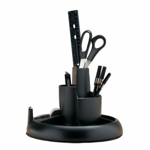 Rub25001 Rubbermaid Rotary Desk Organizer With Supplies