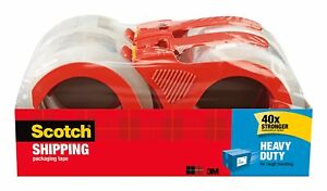 Scotch Heavy Duty Shipping Packaging Tape With Refillable Dispensers 3 Core