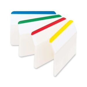 Post it Durable Filing Tabs 2 x1 5 24 pkg assorted Primary Colors