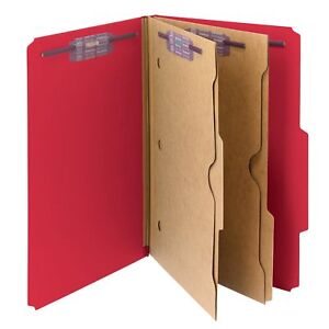 Smead Pressboard Classification File Folder With Wallet Divider And Safeshield