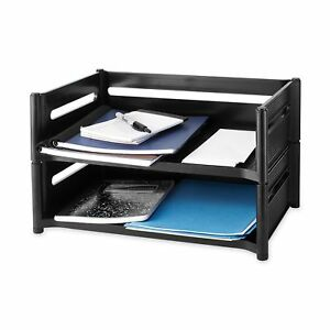 Rubbermaid 18041 Mega Stackable Add on Tray 19w X 12 7 8d X 5 3 4h Ebony