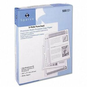 Sparco Copy Paper 92 Ge 102 Iso 3hp 50lbs 8 1 2 X 11 Inches 10 Rm ct We