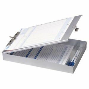 Officemateoic Aluminum Forms Storage Clipboard 8 5 X 12 Inch 83200