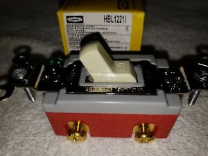 10 Hbl1221i Hubbell Toggle Switch 20a 120 277v Ivory Pack Of Ten
