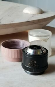 Soviet Vintage Objective Lens F 23 2 X 0 17 For Microscope Lomo Zeiss Rms