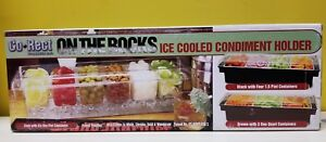 Co rect On The Rocks Ice Cooled Condiment Holder W Lid 6 One Pint Containers