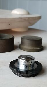 Soviet Vintage Objective Lens 95 X 1 25 190 For Microscope Lomo Zeiss Rms