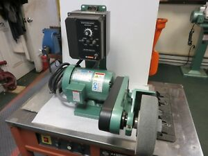Burr King Model 800 With Variable Speed Leeson 1 5 Hp Deburring polishing