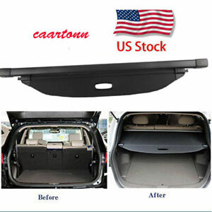 Canvas Inner Auto Rear Boot Trunk Cargo Cover Shade For 2017 2018 Kia Sportage