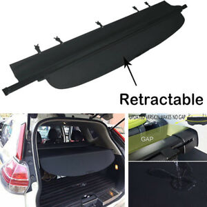 Canvas Inner Auto Rear Boot Trunk Shield Cargo Cover For Nissan Rogue 2014 2017