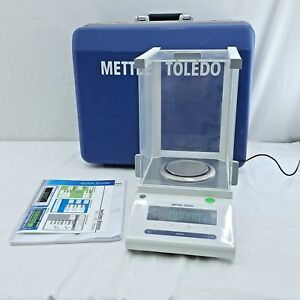 Mettler Toledo Ms104s Analytical Lab Balance W Carrying Case no Keys Tested