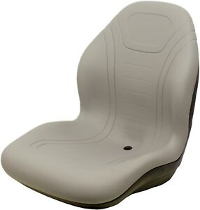 John Deere Gray Vinyl Seat Fits 2320 2520 2305 2720 Replaces Oem Lva14067