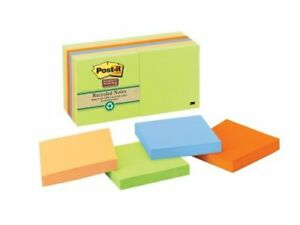 Post it Notes Super Sticky Recycled Notes In Farmers Market Colors