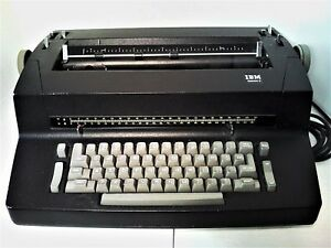 Black Ibm Selection Ii Typewriter works But Needs A Little Bit Of Service