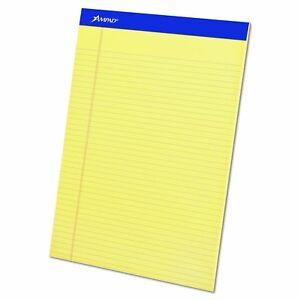 Ampad 20222 Perforated Writing Pad 8 1 2 X 11 3 4 Canary 50 Sheet
