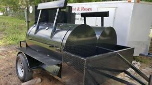 Big Hog Mobile Kitchen Bbq Smoker Trailer Food Truck Catering Concession Vending