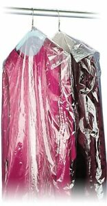 40 21x7 Crystal Clear Plastic Dry Cleaning Poly Garment Bags 600 Bags Roll New