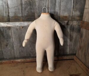 Vtg Articulating Baby Child Canvas Mannequin Store Display Body Dress Form