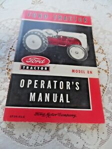 Vintage 1952 Ford Tractor Operator s Manual Model 8n