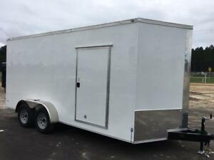 New Rock Solid 7x16 Enclosed Cargo Trailer 7 Interior W Free Upgrades