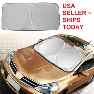 Foldable Jumbo Extra Large Sun Shade Truck Van Car Windshield Visor Block Cover