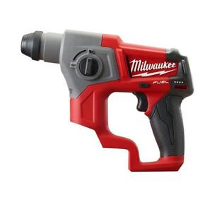 Milwaukee 2416 20 M12 Fuel 12 volt 5 8 Sds Plus Rotary Hammer Bare Tool New