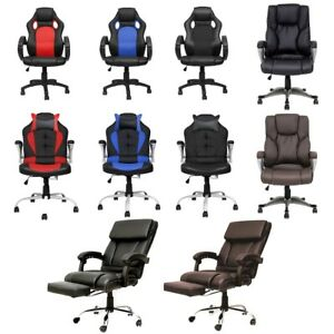 Office Computer Video Gaming Chair Executive Chairs Pu Leather Bucket High Back