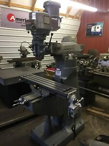 Bridgeport Vertical Milling Machine 2 Hp Series I New 2 Axis Dro Vari Drive