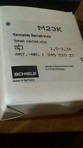 Schiele M23k Thermal Overload Relay Motor Protector 1 5 2 3a new