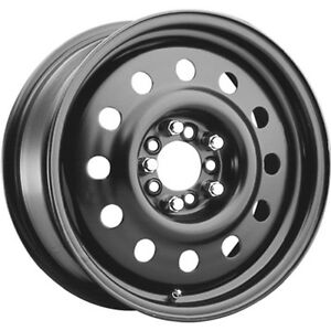 1 New 14x5 5 Pacer 83b Fwd Black Mod Steel Wheel Rim 35 5x100