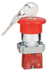Emergency Stop Push Button chrome red Dayton 30g257