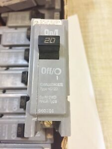 Lot Of 16 New No Box Challenger Hc120 Circuit Breakers Type Hacr Best Price Hwb