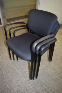 20 Black Haworth Improv Stacking Side Chairs
