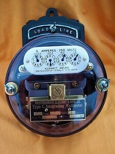 Westinghouse Type c Integrating Meter Restored 5 Amp 100 Volts Circa 1907